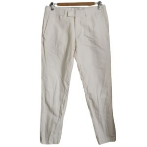 TIGER OF SWEDEN Classic White Linen Trouser Pants